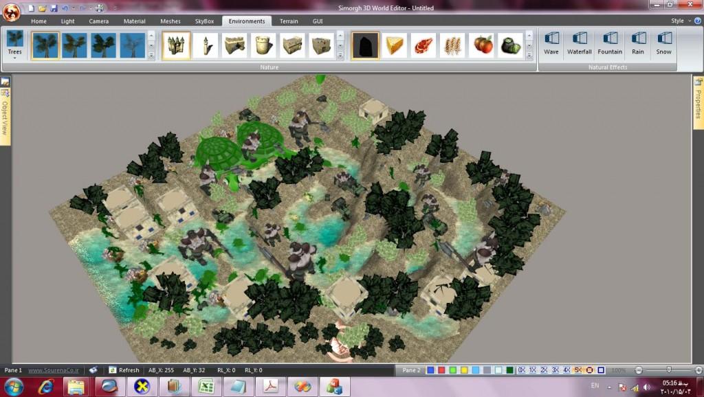 Simorgh 3d world editor-شرکت نرم افزاری سورنا پردازش آریا - ادیتور 3 بعدی سیمرغ