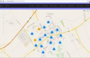 نمایش هوشمند درختان و جایگذاری آنها در نقشه های استاندارد مانند گوگل مپ